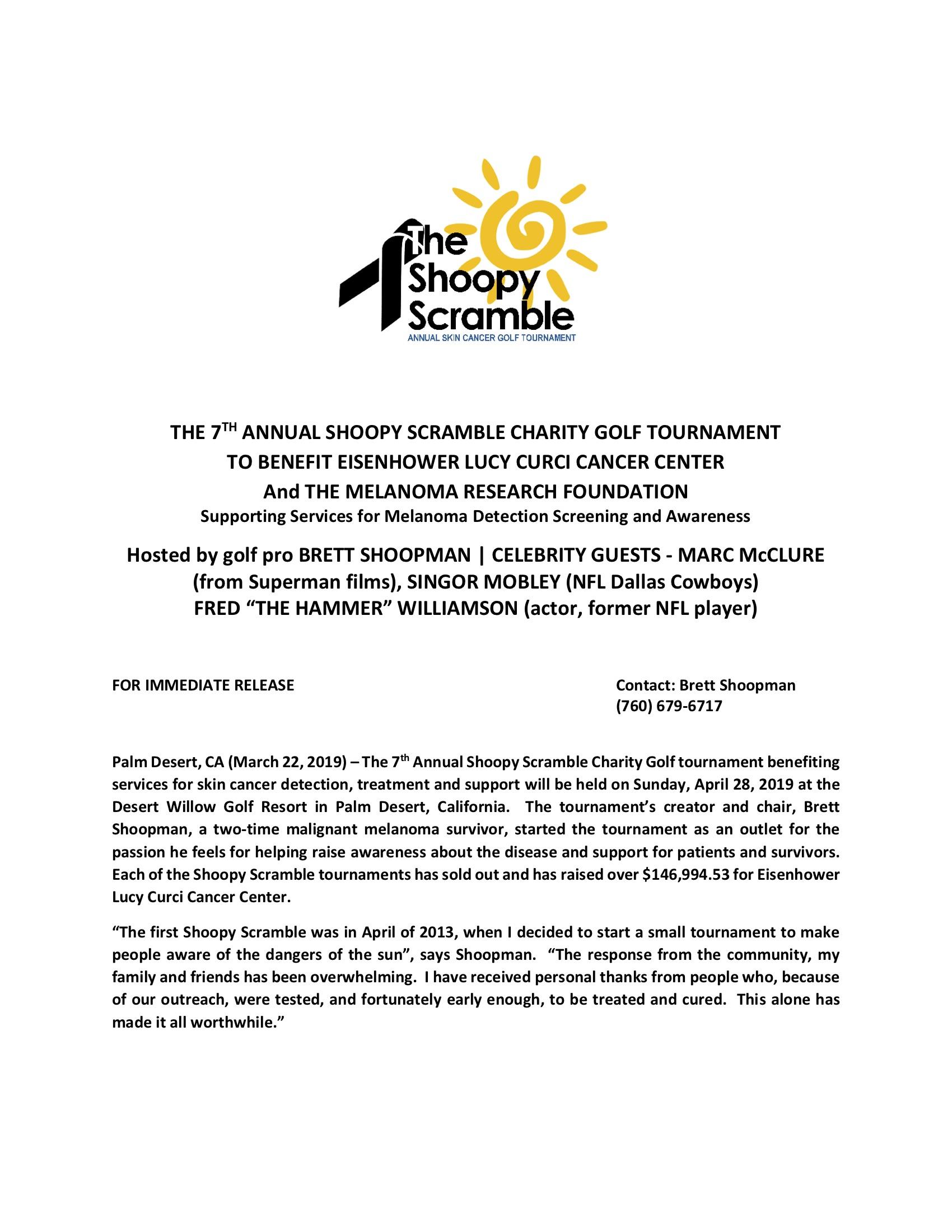 SHOOPY SCRAMBLE Press Release 2019 Final 4-2