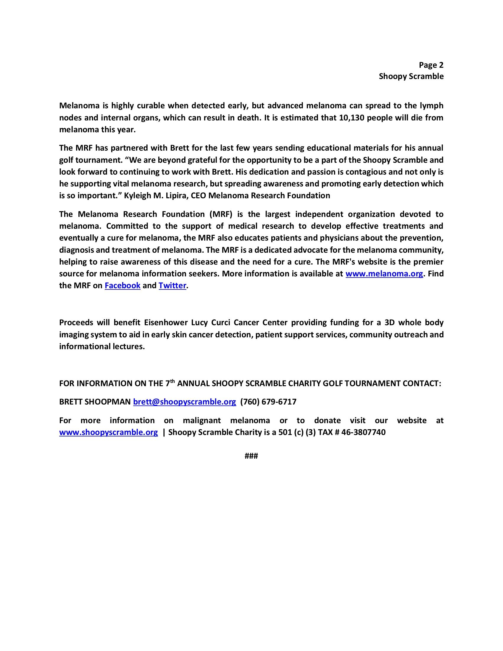 SHOOPY SCRAMBLE Press Release 2019 Final 4-222